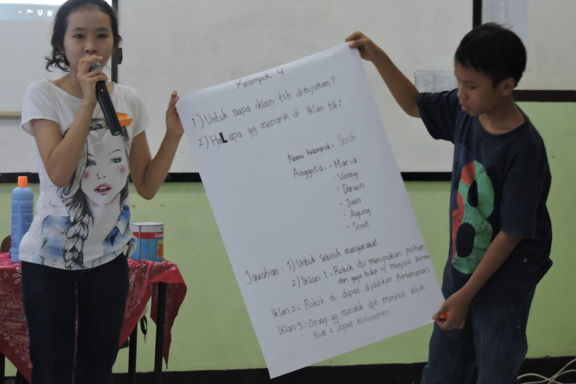 Aksi Penolakan Iklan Rokok SMP Budhaya III Santo Agustinus Jakarta