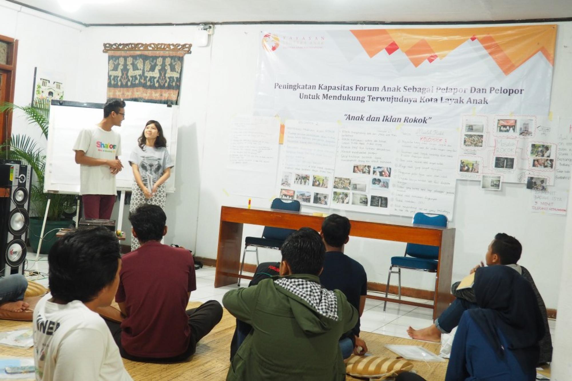 Peningkatan Kapasitas Forum Anak Sebagai Pelopor dan Pelapor Untuk Mendukung Terwujudnya Kota Layak Anak