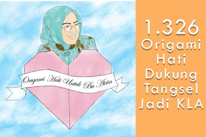 Forum Anak Serahkan 1.326 Origami Hati untuk Walikota Tangsel, Dukungan bagi Tangsel Layak Anak