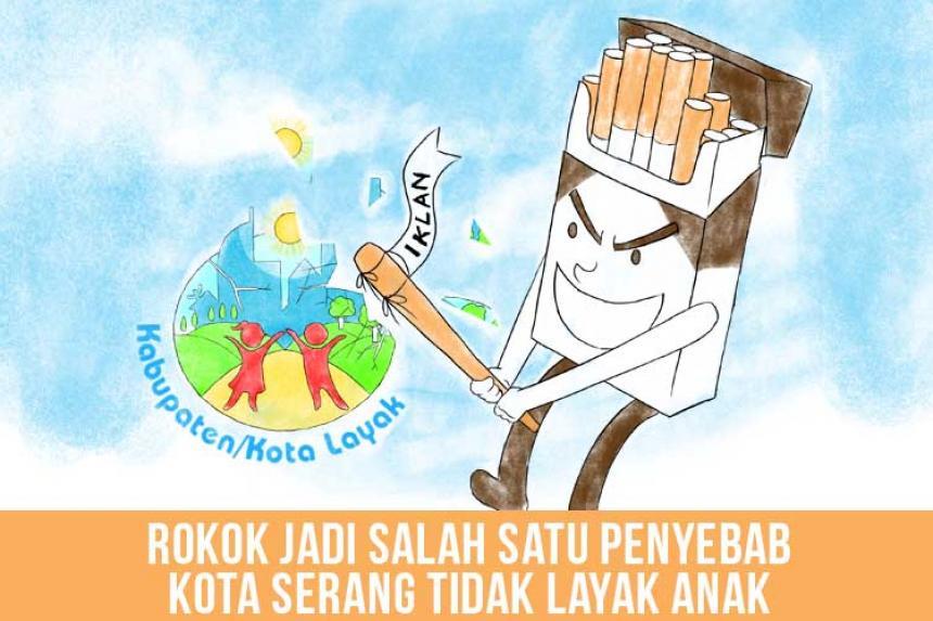 Rokok Jadi Salah Satu Penyebab Kota Serang Tidak Layak Anak